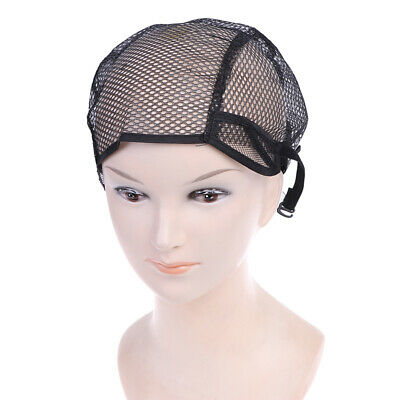 Black Lace Mesh Full Wig Cap Weaving Caps Making Wigs  Straps elastic force.