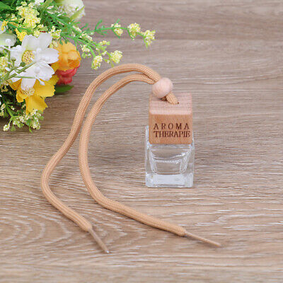 1PC 8ml car hanging empty perfume glass bottle pendant auto home ornaments.