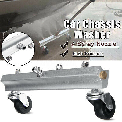 High Pressure Car Under Washer 4 Spray Nozzle Water Clean Gun 30Mpa+Extended Rod