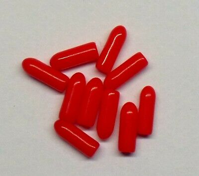 x10 Caps RED Vinyl Mini Toggle Switch SPDT Rubber Cover MTS-102 MTS-103