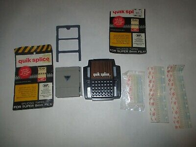 LOT Vintage super 8 Quik Splice Quick Splicer Splicing Baia Kodak 8mm Tapes