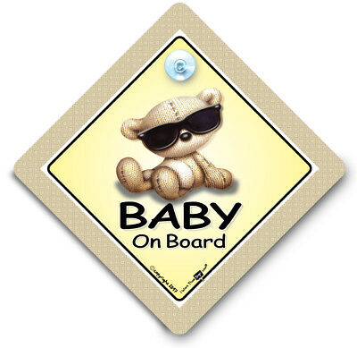 Baby On Board Sign SUNGLASSES, Baby On Board Sign, Baby Shades, Suction Cup Sign