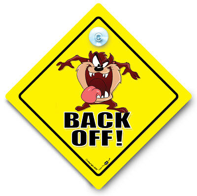 BACK OFF Car Sign, Suction Cup Car Sign, Tailgater Car Sign, Baby on Board Style