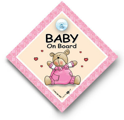 Baby On Board Sign, Baby Girl on Board Car Sign, Grandchild On Board Sign
