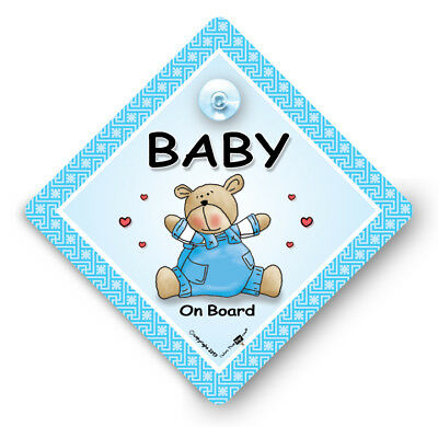 Baby On Board Sign, Baby Boy on Board Car Sign, Grandchild On Board Sign