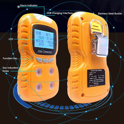 4 in 1 Gas Detector CO Monitor Digital Handheld Toxic Gas Carbon Monoxide V6X8