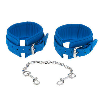 PU Leather Slave Restraint Toys Handcuff Roleplay Wrist Ankle Chain Cuffs
