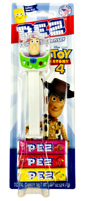 PEZ Disney Pixar BUZZ LIGHTYEAR Candy & Dispenser TOY STORY 4 New Factory Sealed
