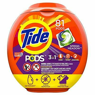 Tide PODS 3 in 1 HE Turbo Laundry Detergent Pacs, Spring Meadow Scent, 81 Count