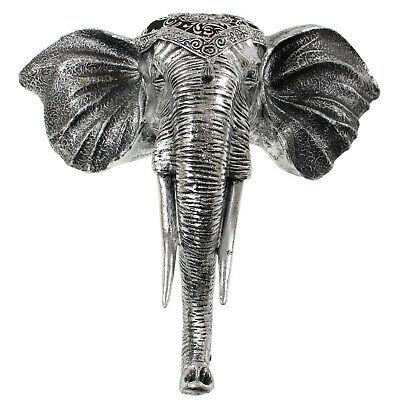 Elephant Head Ornament Animal Sculpture Wall Mounted Hanging Display Decoration