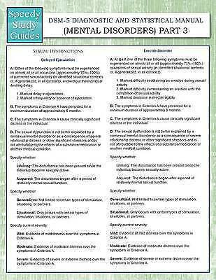 Dsm-5 Diagnostic Statistical Manual (Mental Disorders) Part 3 by Speedy Publishi