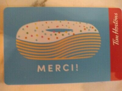 Collectable Tim Hortons Merci Donuts Gift Card #Fd65954 ..No Monatary Value