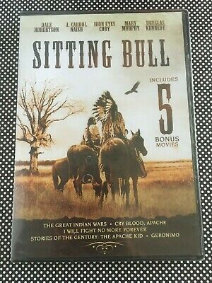 SITTING BULL with 5 Bonus Movies DVD I Will Fight No More Forever + Geronimo ++