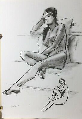 Nude Female Figure Study 1274 Signed limited edition 8x12