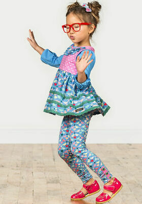 Matilda Jane Repeat After Me Leggings Girls Size 4 New In Bag Birds Hearts Camp