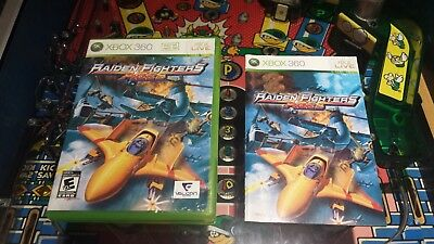 Raiden Fighters Aces (Microsoft Xbox 360, 2009) CASE & MANUAL ONLY!