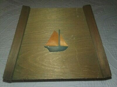 Arts & Crafts Craftsman Mission Style Period Wood Lamp Shade Vintage Boat UNIQUE