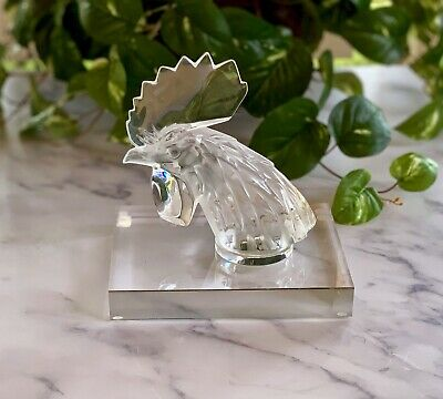 Tete de Coq Rooster Head Mascot or Figurine Mint Signed & Authentic