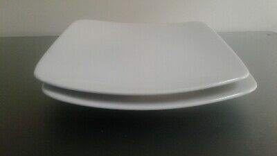 Marks and spencers white andante square side dessert salad plates x 2