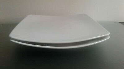 Marks and spencers white andante square dinner plates x 2