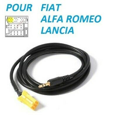 Cable Jack Auxiliaire Mp3 Audio Autoradio Fiat Stilo