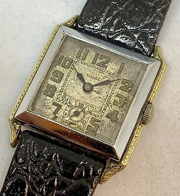 Vintage Art Deco Swiss Made Two Tone Hinged Case Watch