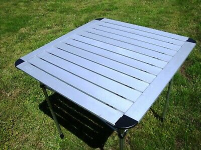 REIMO Camp 4 Duo Classic Camping Picnic Roll Up Aluminium Table RRP £49 70x70cm