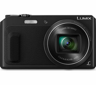 PANASONIC Lumix DMC-TZ57EB-K Superzoom Compact Camera Black - Currys