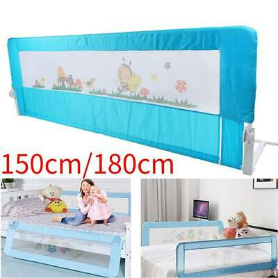 150/180cm Toddler Kids Bed Rail Safety Guard Protection Folding Bedrail Blue