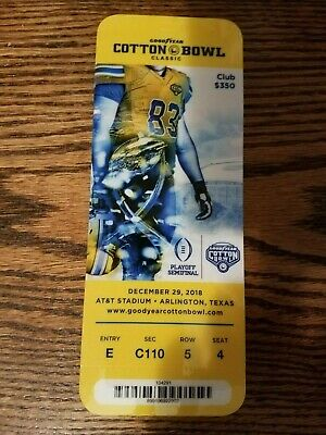 Vintage Sports Memorabilia ticket stub NOTRE DAME FIGHTING IRISH vs CLEMSON TIGERS COTTON BOWL 12/29/18