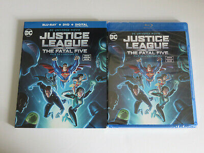 Justice League The Fatal Five Blu Ray Dvd Digital New & Sealed Canada Slipcover