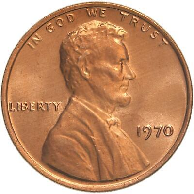 1970 Lincoln Memorial Cent Choice BU Penny US Coin