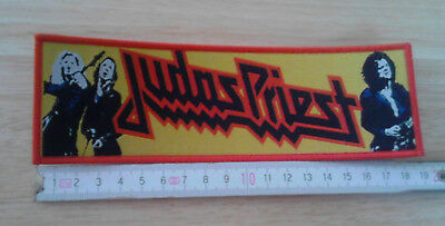 JUDAS PRIEST woven Patch Strip Accept Iron Maiden Black Sabbath Motorhead Krokus