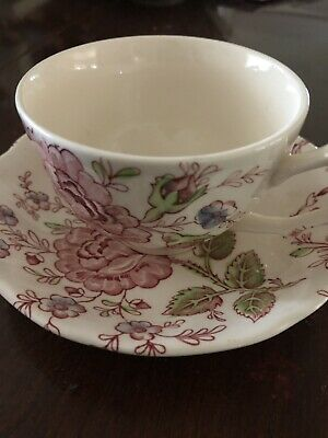 Rose Chintz Tea Cup and Saucer Pink, Johnson Brothers, England