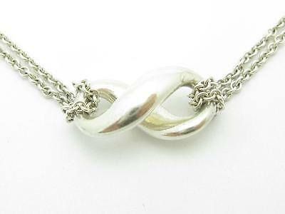 Pre-Owned Tiffany & Co. 3D Infinity Charm Link Chain Necklace Gift