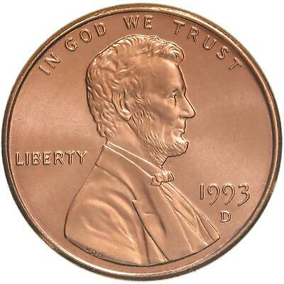 1993 D Lincoln Memorial Cent Gem BU Penny US Coin