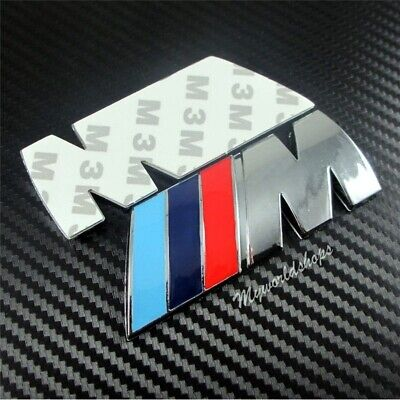 Embleme Logo BMW autocollant Sigle Badje M power Chrome 74x28 +++