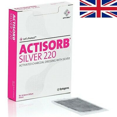 Actisorb Silver 220 Activated Charcoal Dressing | Choose Size & Quantity | UK