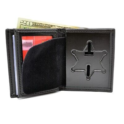 Perfect Fit County Sheriff Police Badge Wallet 6PT Star Fits Many NY Counties