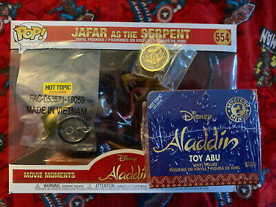 Funko Pop! Disney Treasures Aladdin Jafar as the Serpent Box Hot Topic Exclusive