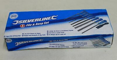 BNIB SILVERLINE 9 Piece File & Rasp Set 5 x Files 3 x Rasps & Cleaning Brush