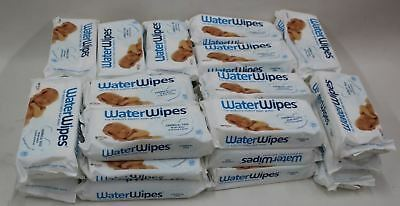 36x NEW WATERWIPES Natural Baby Nappy Wipes Chemical Free For Sensitive Skin