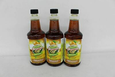 3x NEW COLD PRESSED 946ml Home And Garden Orange Oil Concentrate Bottles