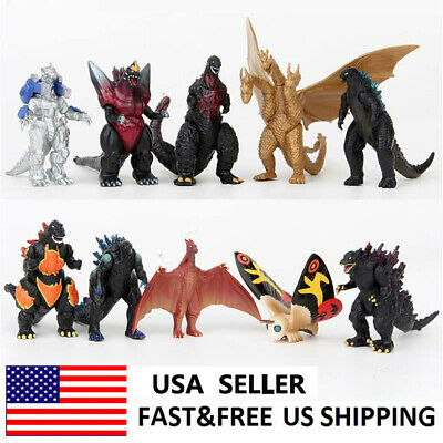 Godzilla King Of The Monsters Movie Action Figure Doll Toys Kids Gifts 10 PCS