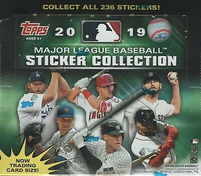 2019 Topps MLB Baseball Sticker Collection Factory Sealed Box 50 Packs 200 Total