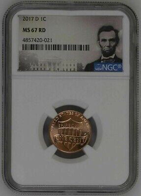 2017-D LINCOLN SHIELD CENT 1c NGC MS67 RD