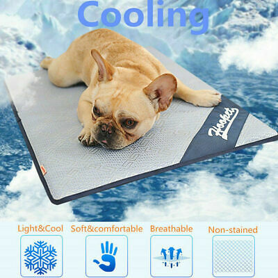 Dog Cooling Mat Pet Cat Chilly Non Toxic Summer Cool Bed Pad Cushion Indoor *1
