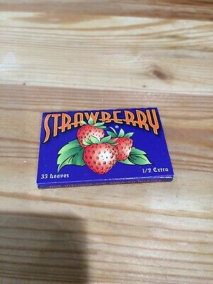 Jamaican Strawberry Rolling Paper 1 1/2 79mm 33 Papers Chlorine & Chemical Free