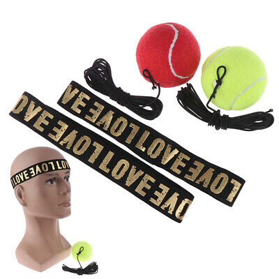 MMA Boxing Fight Ball With Head Band For ReflexSpeed Training Punching Exercise.