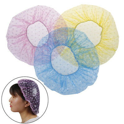 6Pcs Disposable Hat Hotel/Hair Salon/Home One-Off Elastic Shower Bathing Cap.